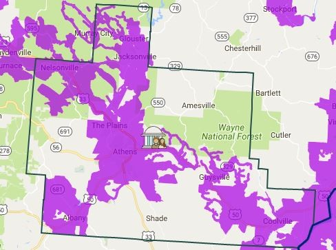 Area Maps Athens County OH - Map of cable providers in the us