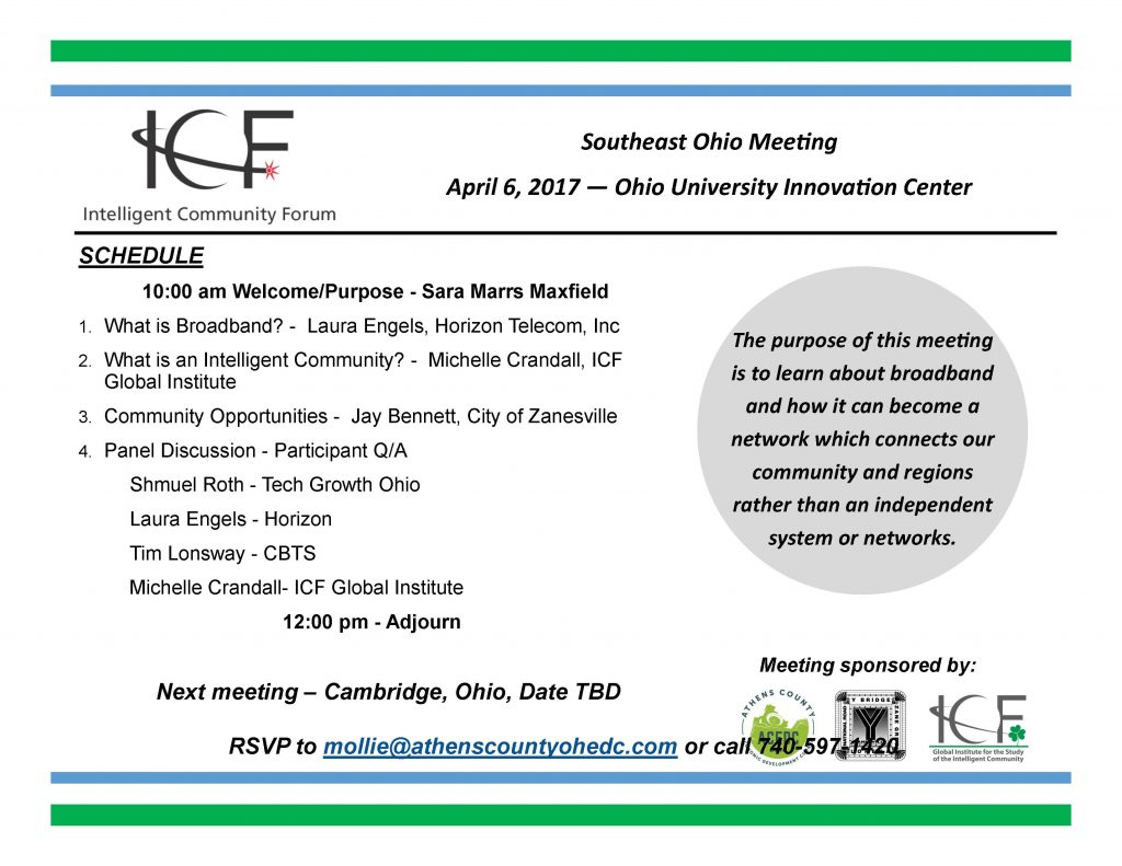 Intelligent Community Forum April 6 Athens County Oh